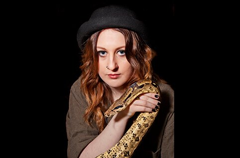 female portrait with snake